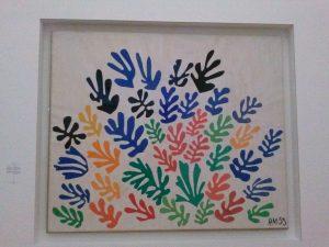 De schoof van Henri Matisse, 1953. Gouache o ppapier, uitgeknipt en opgeplakt op papier. 294×350 cm. Collectie University of California, Los Angeles.