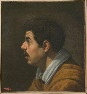 'Hoofd van een man in profiel', ca. 1616 (voorzijde). Diego Velázquez de Silva. © State Hermitage Museum, St Petersburg