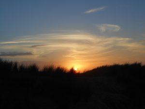Zonsondergang, Noordzee.