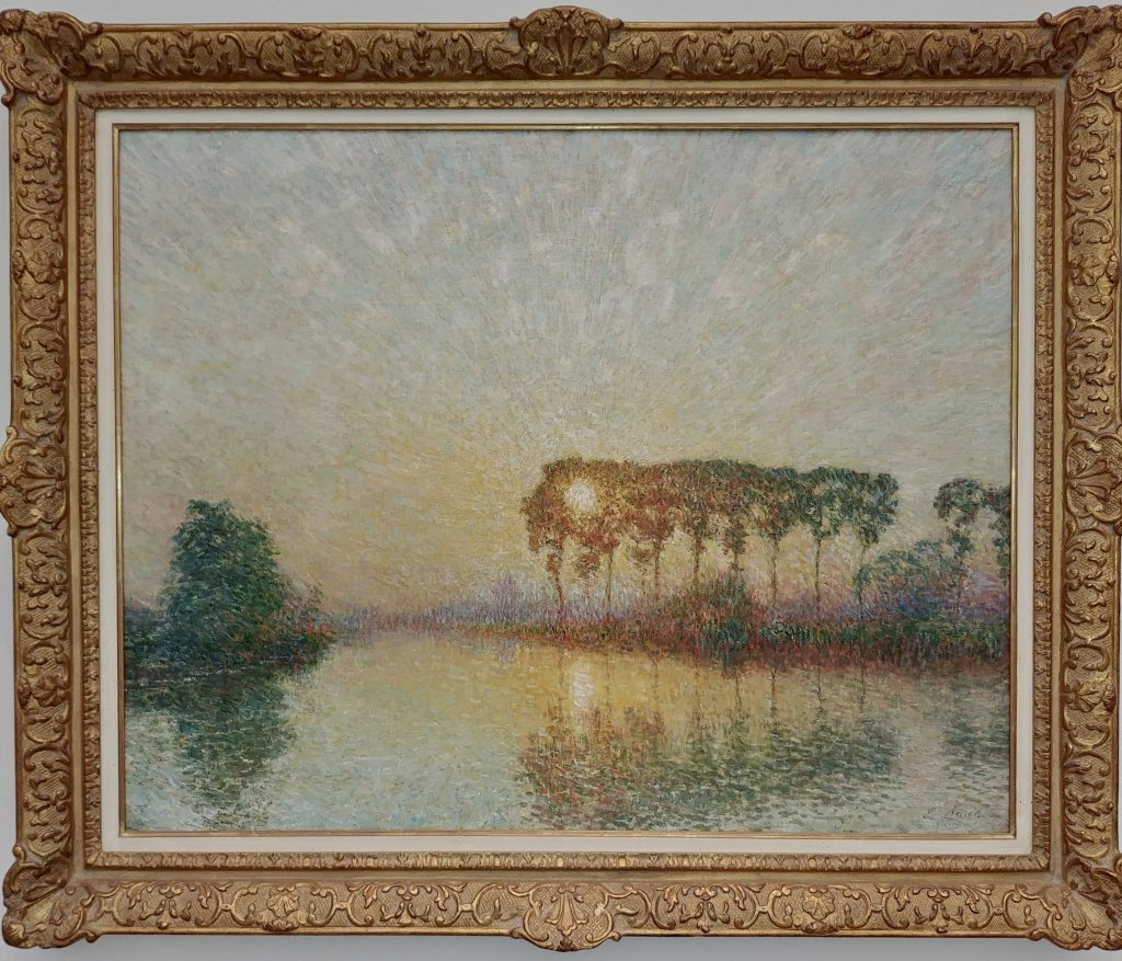 'Coucher de soleil sur la Lys' van Emile Claus. 1911. Courtesy of Patrick Derom Gallery