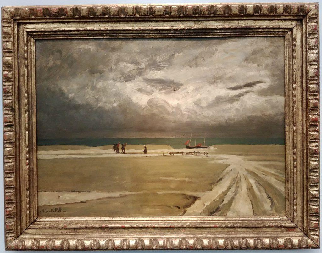 'Pêcheurs fuyant l'orage' van Charles Cottet. 1903. Musée de Beaux-Arts, Quimper.