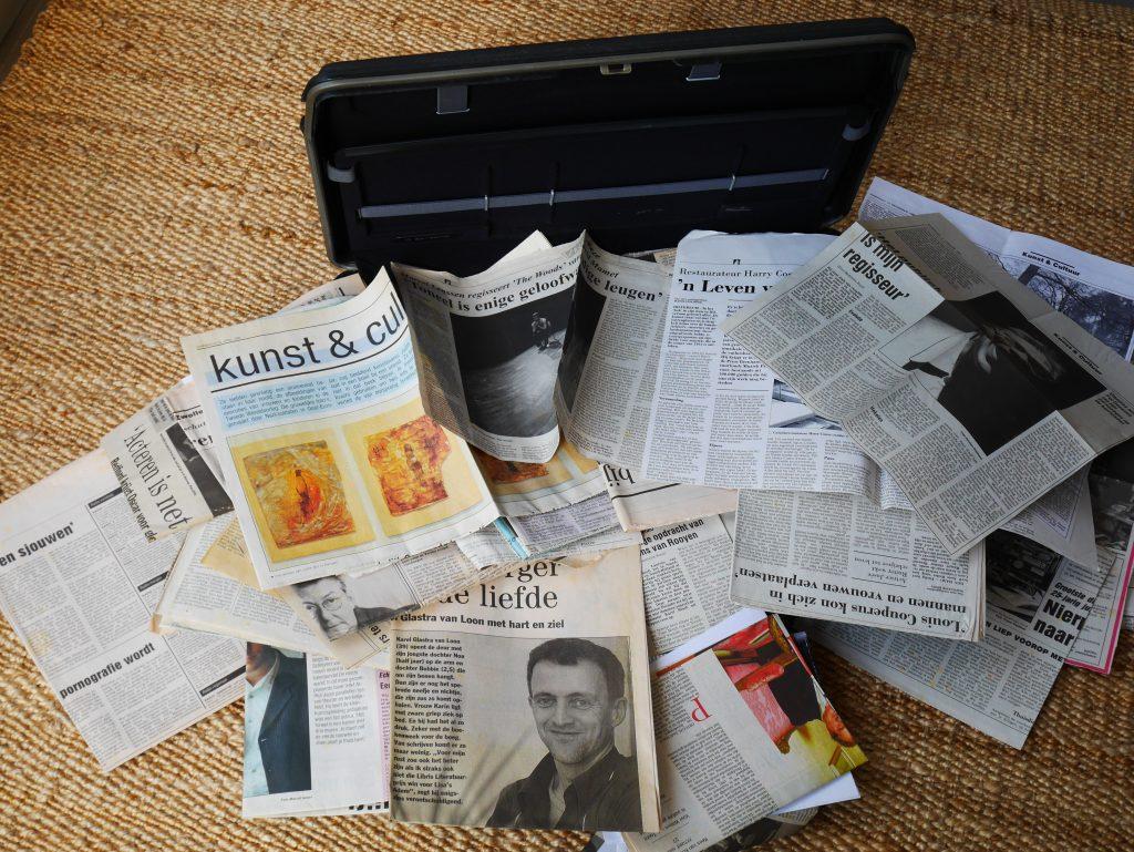 De attachékoffer van mijn vader, waarin mijn moeder al mijn verhalen bewaarde.
